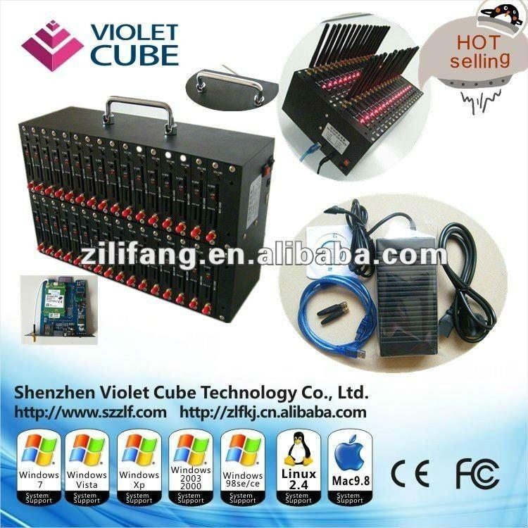 wavecome USB GSM modem bulk sms sending 32 port modem pool Q2406       - ZLF01