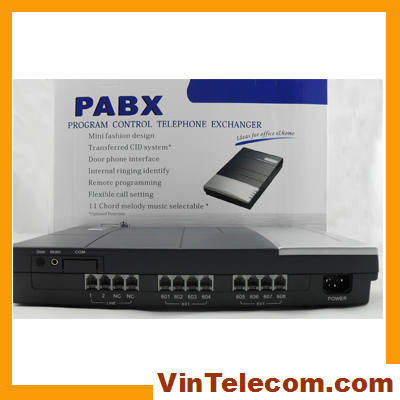 China factory supply Vintelecom Telephone PBX 3CO Lines in x 8 Extensions  for small business solution