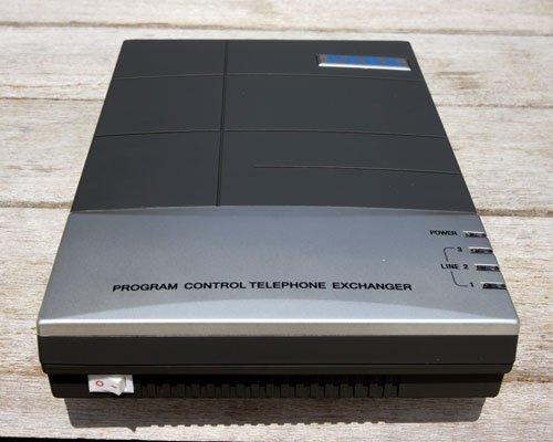 208CS Telephone mini pbx system / Telephone switch 2 lines +8 output phone ports