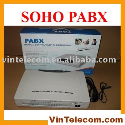 China PABX factory direct supply VinTelecom CP832 PBX - 8Lines x 32 phone extensions ports - Free shipping