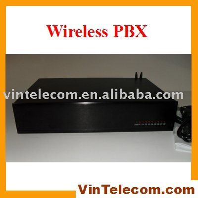 China PBX factory - GSM Wireless Phone PBX / PABX System TP424 - with PC billing software 2 SIMs-4lines x 24 exts output