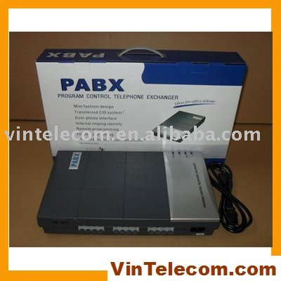 China PBX factory -VinTelecom CS208 MINI PBX / SOHO PBX / Small PABX for small business solution
